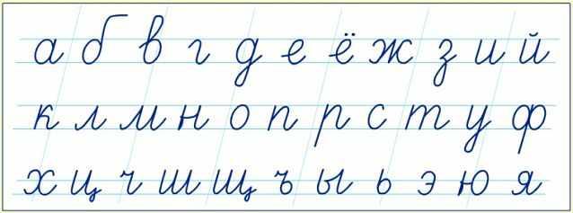 Строчные буквы это