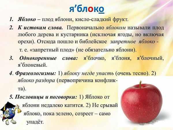 Слово яблоко