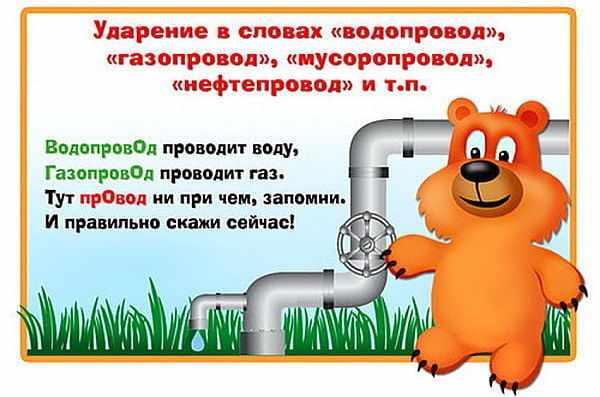 Водопровод ударение