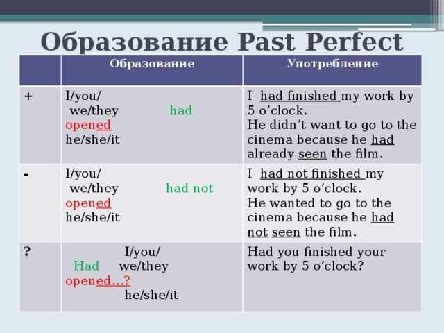 Презентация The Past Perfect Tense