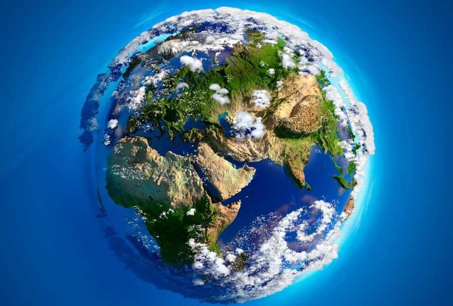 Фотообои Рельеф Земли (арт. №61066576). Купить по цене 5 470 руб ...