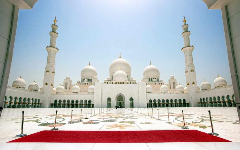 Скачать 1680x1050 белая мечеть, мечеть шейха зайда, абу-даби, оаэ ...