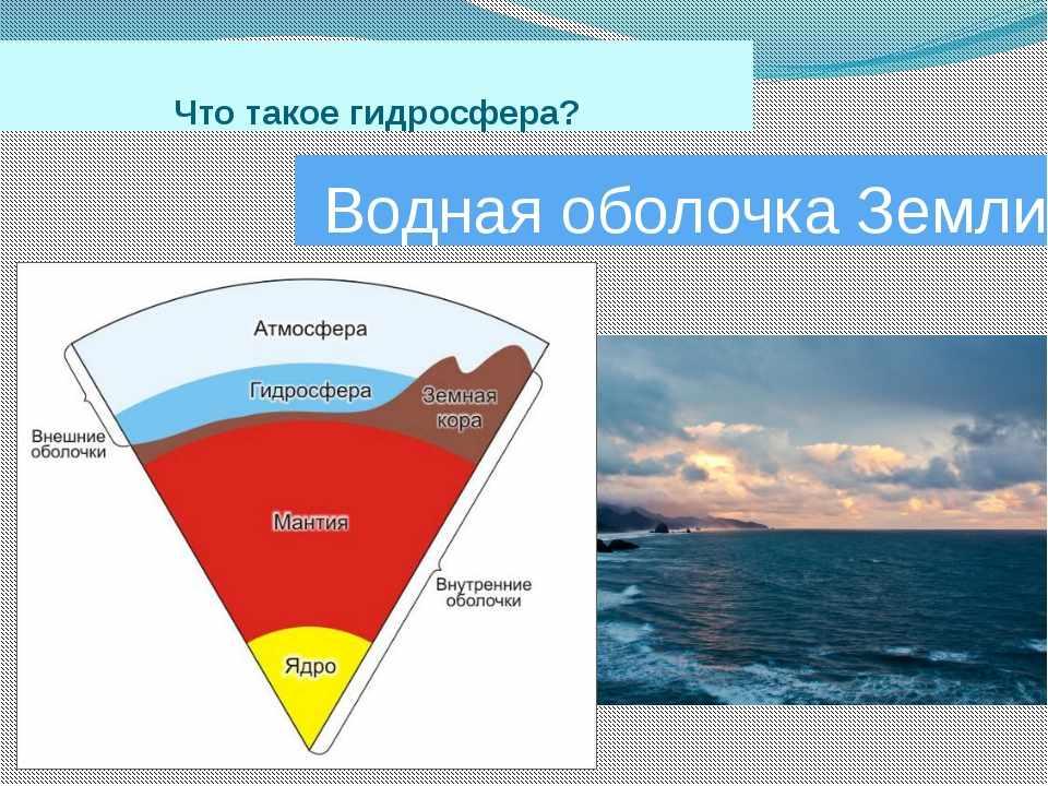 Презентация по теме Гидросфера