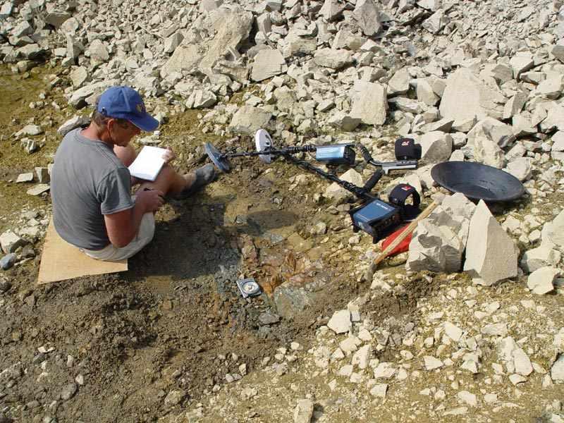 Кладоискатель. Опробование коренного месторождения золота Рудольф Кавчик