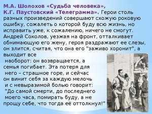 Краткий пересказ повести «Судьба человека»