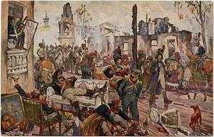 Мародёрство французских солдат в Москве