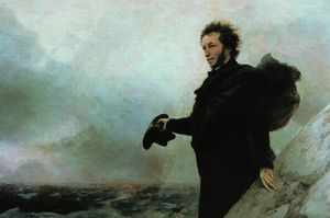 Прощание Пушкина с морем - известная картина Айвазовского