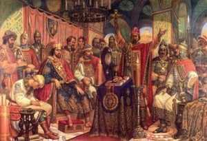 Картина Любечский съезд князей