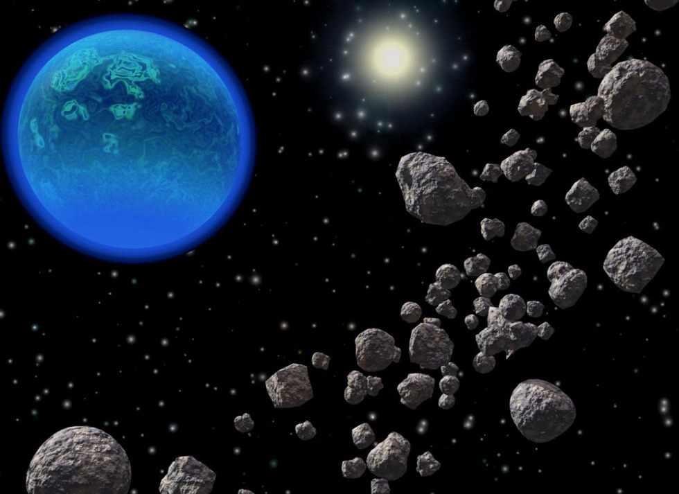 Пояс астероидов в Солнечной системе. – WNS