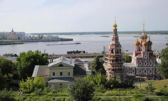 Стрелка Нижнем Новгороде — место, где сливается Волга и Ока. Как ...