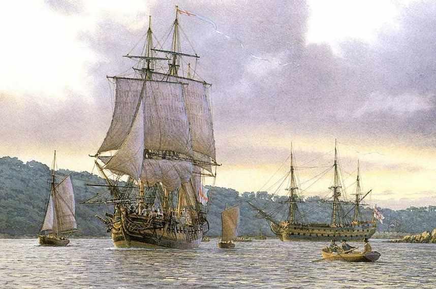 Картины парусных кораблей и судов художника мариниста Mark R.Myers
