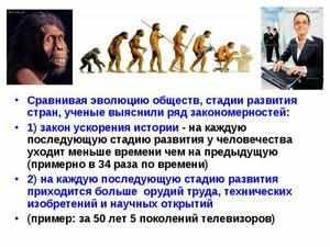 Эволюционное развитие общества