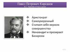 ХАРАКТЕР ПАВЛА КИРСАНОВА