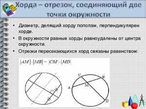 Хорда и диаметр окружности