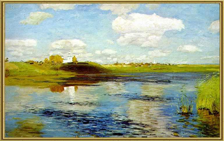 Картина Исаака Левитана «Озеро. Русь»