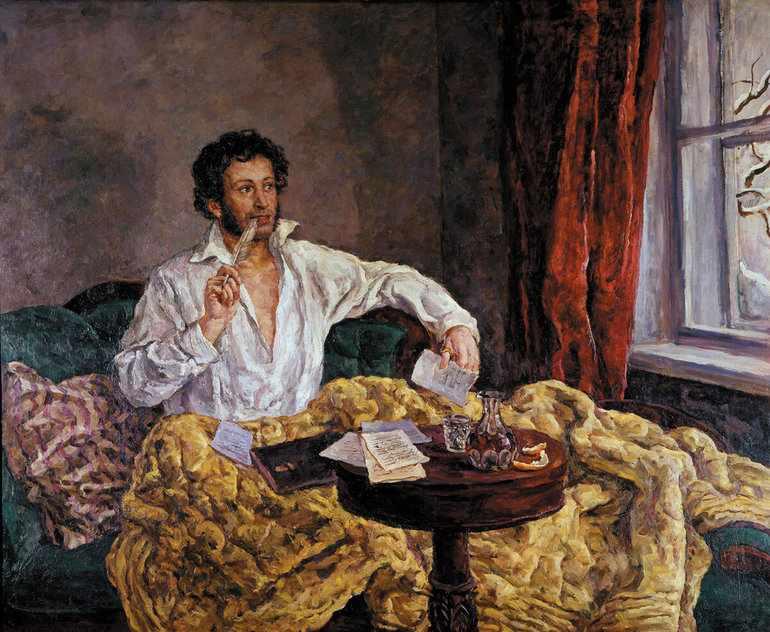 А. С. Пушкин пишет