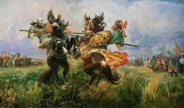 Схватка Александра Пересвета с Челубеем