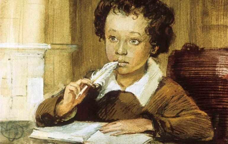 Детство пушкина доклад 5 класс