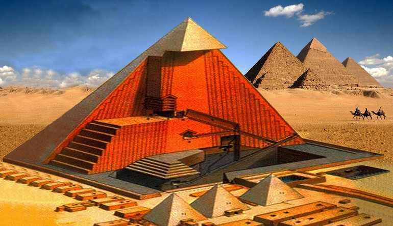 Особенности строительства пирамиды