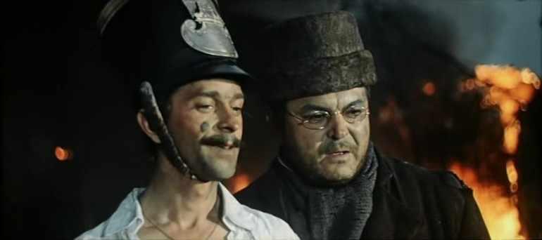 Платон Каратаев и Пьер Безухов