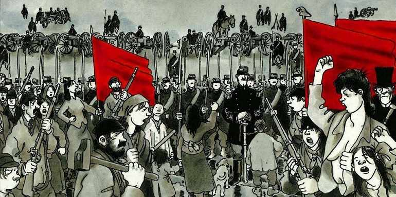 Подразделения пролетариата заняли основные здания Парижа