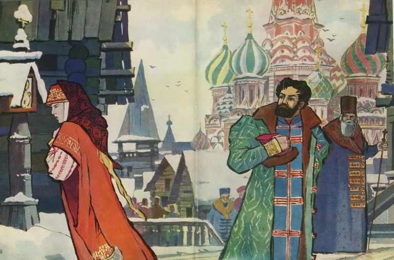 Песня про купца калашникова главные герои характеристика