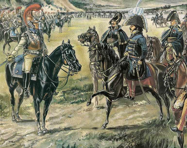 Французские войска под руководством Мюрата