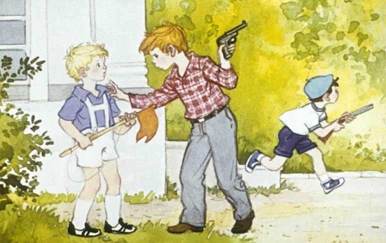 Дети играют в войну
