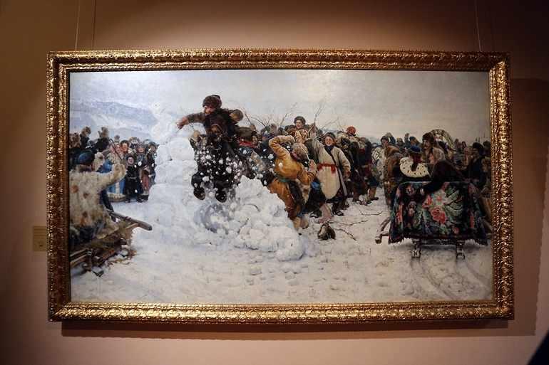 Картина «Взятие снежного городка» В. И. Сурикова