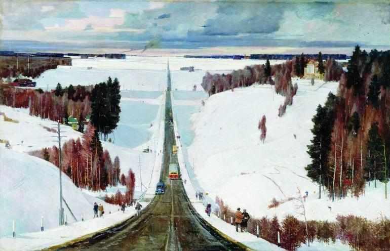 Картина «Подмосковная зима»