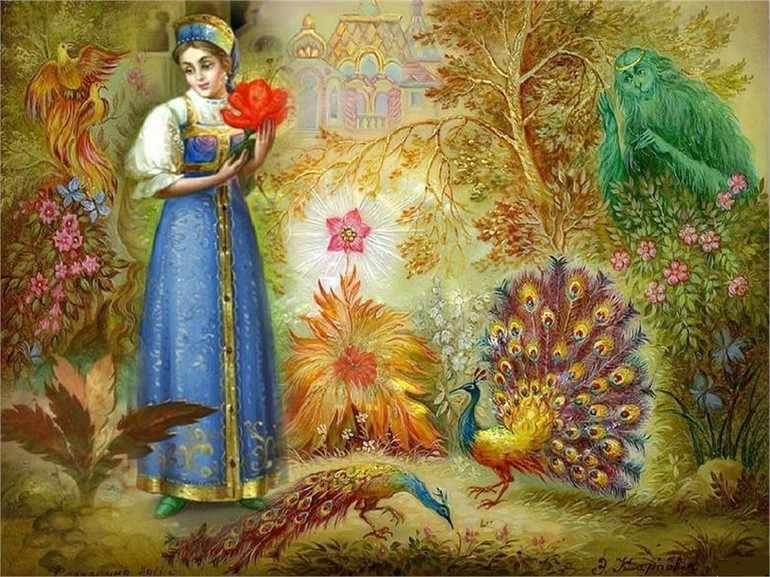 Аленький цветочек главные герои характеристика