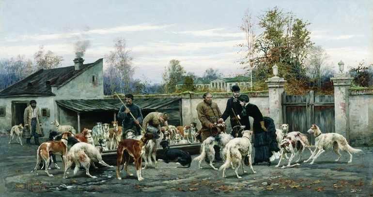Псарный двор Троекурова