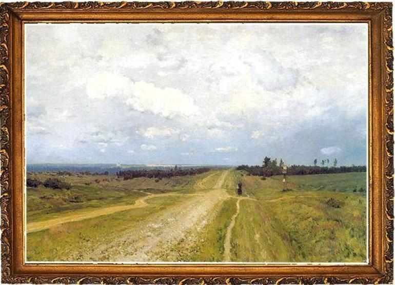 Картина Исаака Левитана «Владимирка»