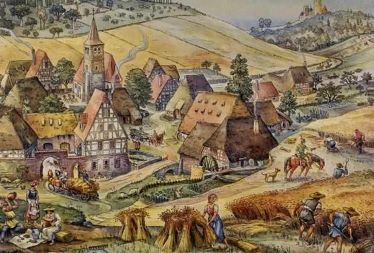 Средневековая деревня 6 класс история