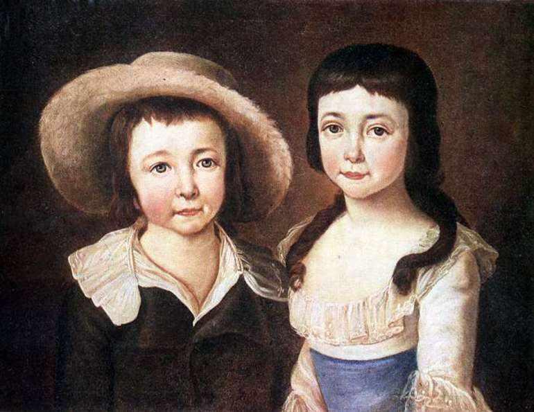 Брат и сестра пушкина