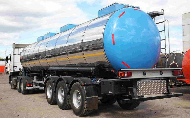 Жидкий О2 технического типа перевозят в цистернах