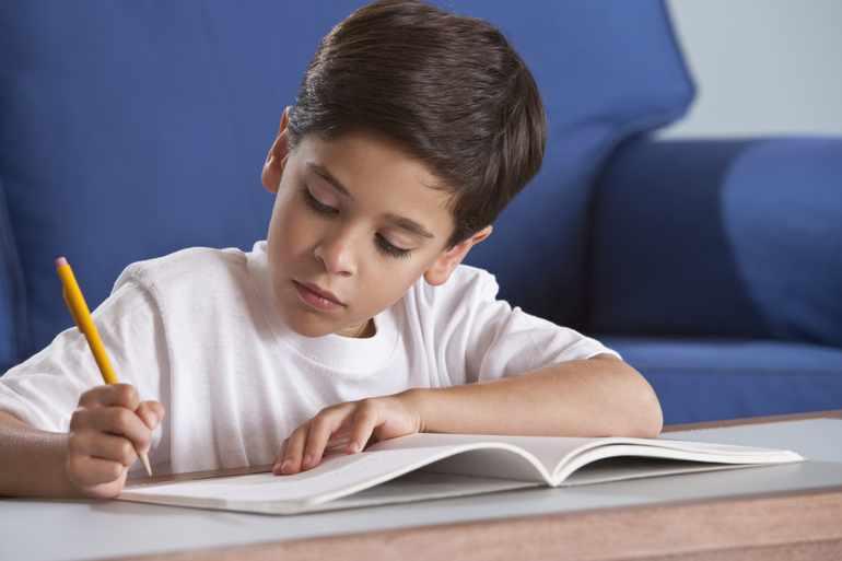 Ученик заполняет читательский дневник