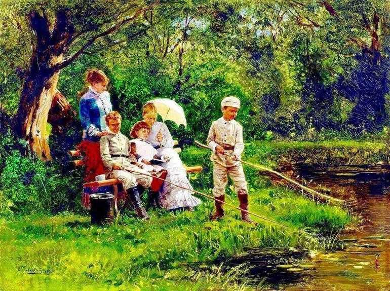 Картина Владимира Маковского «В жаркий день»