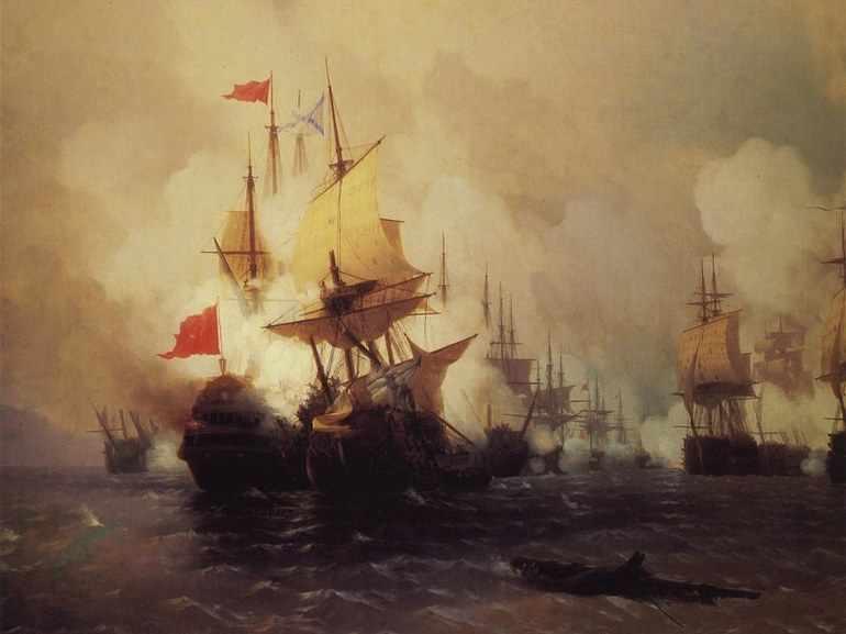 Сочинение по картине чесменский бой