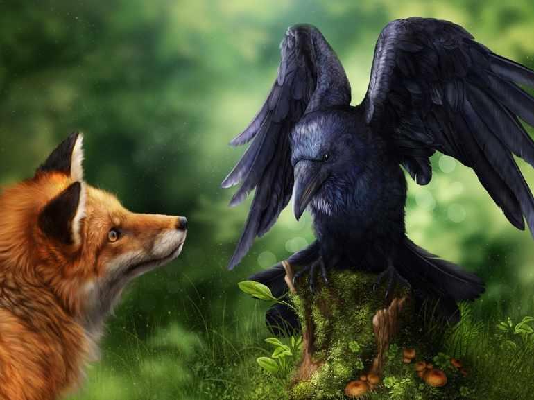 Мораль басни ворона и лисица своими словами