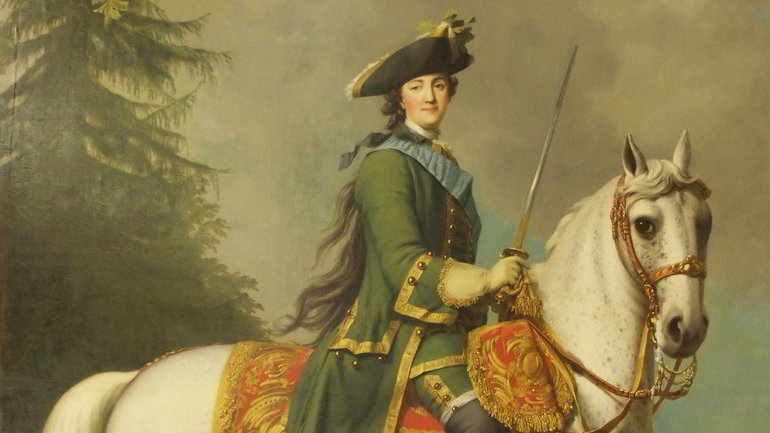 Императрица Екатерин на коне