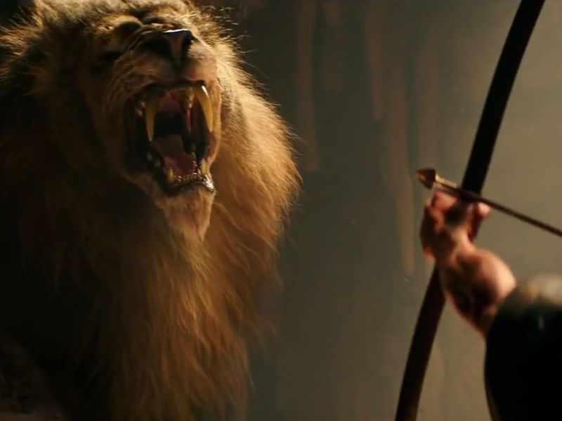 Геракл убивает льва