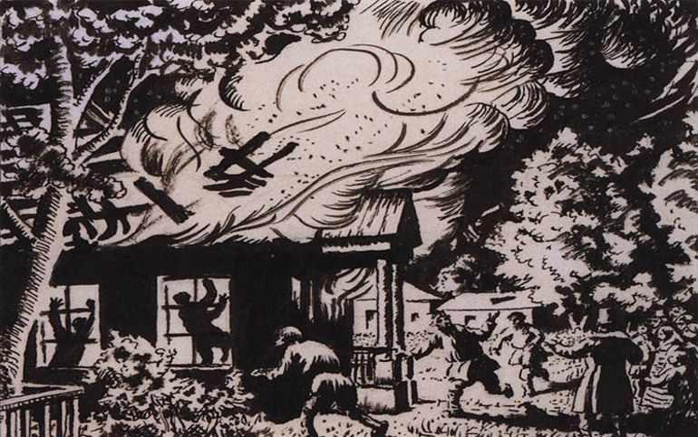 Поджог собственного имения Дубровским