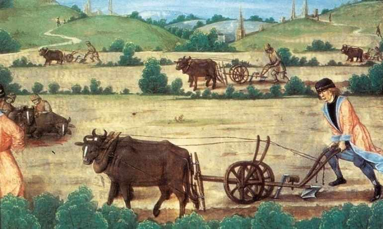 Средневековая деревня и обитатели