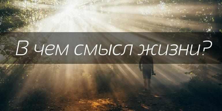 Сочинение «В чём смысл жизни»