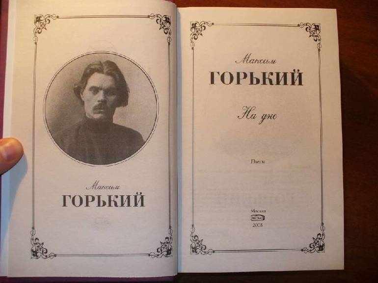 Произведение Максима Горького «На дне»