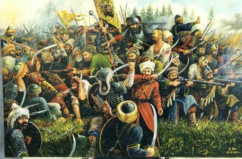 Весной войско мурзы Карача внезапно напало на казаков