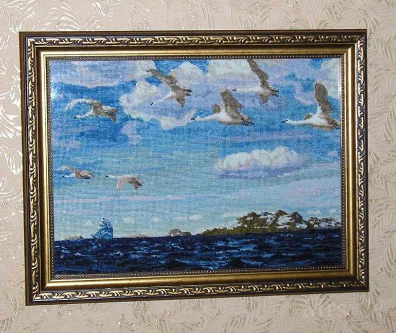 Картина Аркадия Рылова «В голубом просторе»