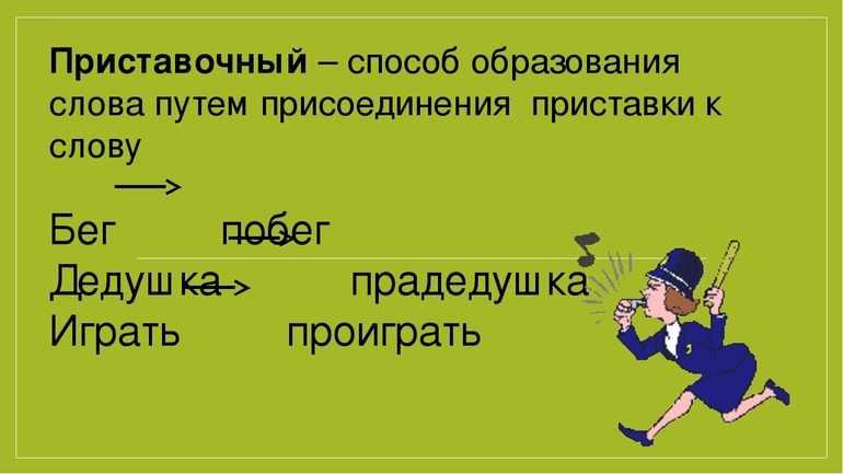 Приставочный способ образования слов