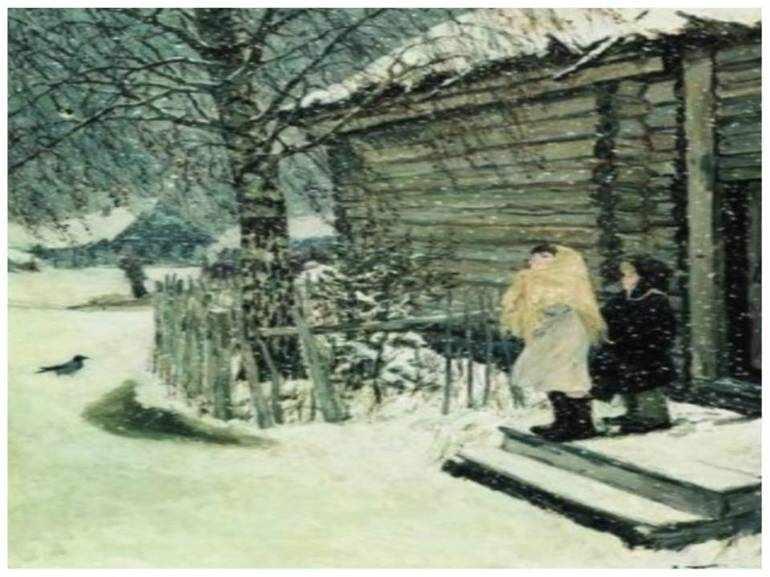 Первый снег сочинение по картине пластова